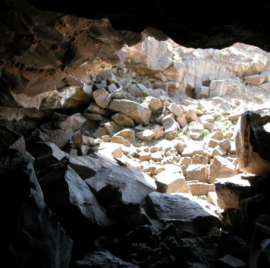 A view out of the Civil Defense Caves. - Caves around rexburg
