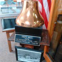 Bell off of the ship U.S.S. Rexburg