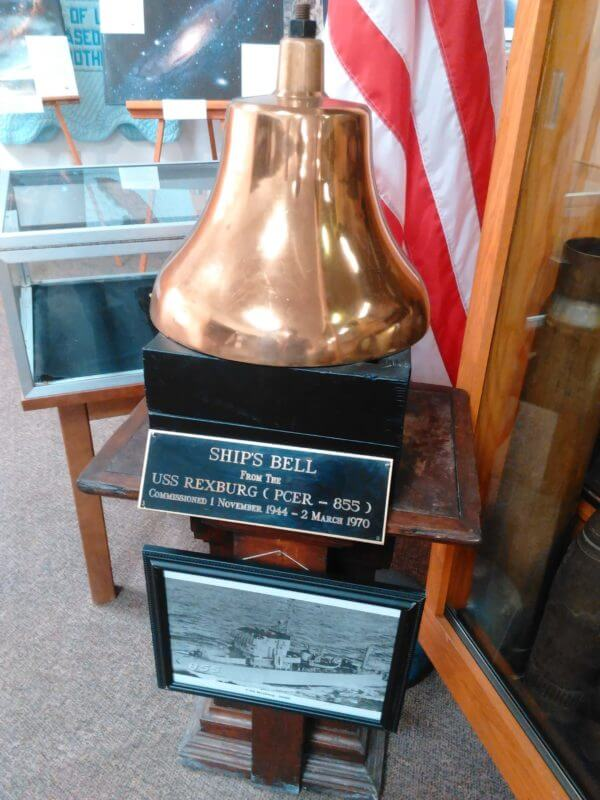 Bell off of the ship U.S.S. Rexburg