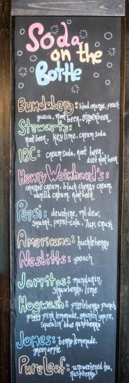 Hickory Soda List