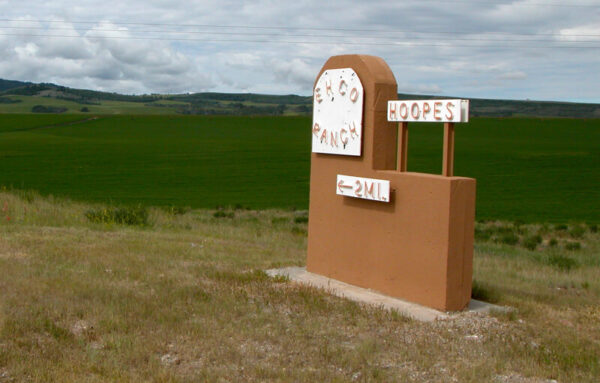Ehco Ranch Sign