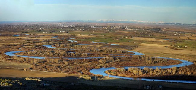 View from the top of R Mountain (near Rexburg)