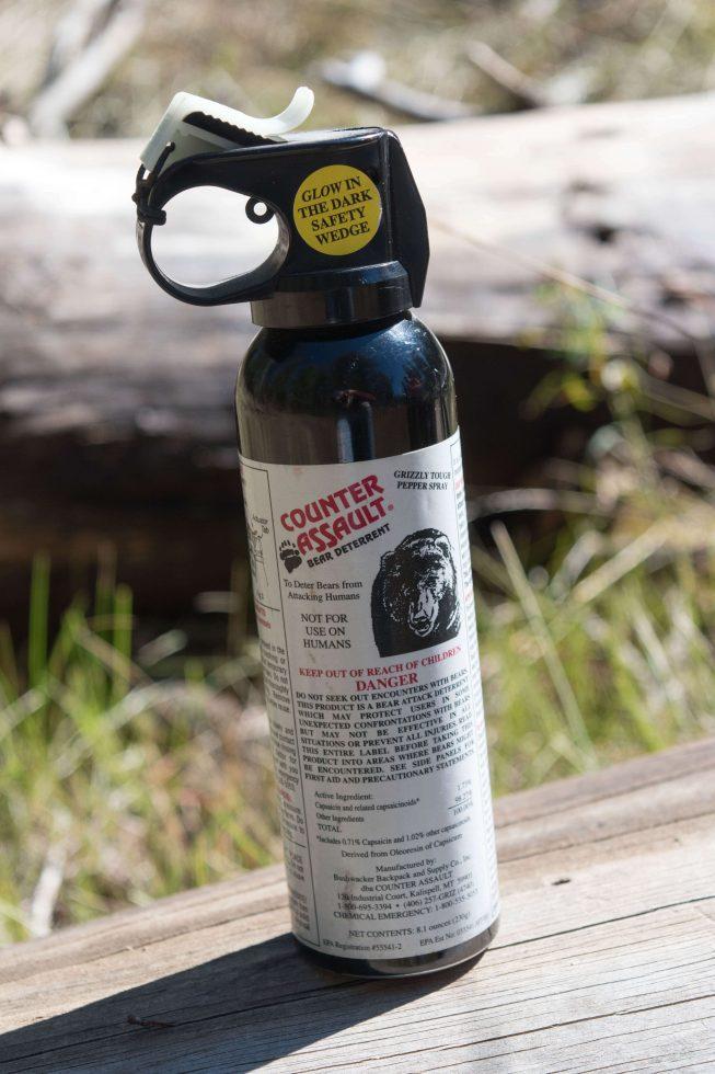 can of bear spray
