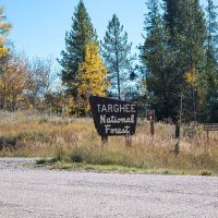 targhee national forest sign