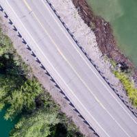 Road at Palisades Reservoir