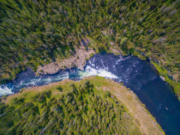 Aerial Shot of Sheep Falls