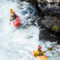 Kayakers at Sheep Falls